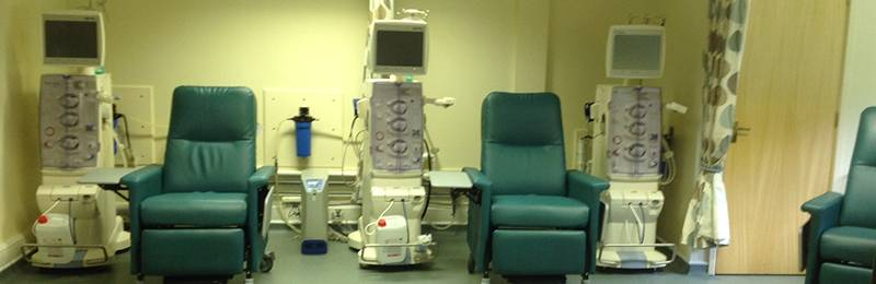 3 dialysis machines and chairs at Lakeland Dialysis